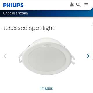 6 pieces Philips LED warm downlights