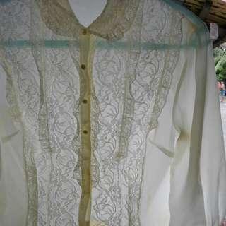 Women's long sleeves w/ collar