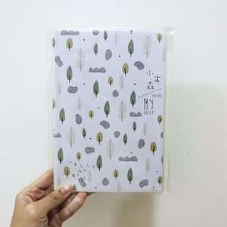 BNIP A5 Forest Trees And Rock Motif Lined Line Notebook Journal Diary Planner