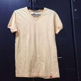 Bench Yellow Vneck shirt