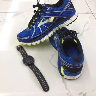 Brooks Mens Running Shoes Adrenaline GTS 17 2E (Wide Fit) UK 8 (US 9) - Mileage 20KM
