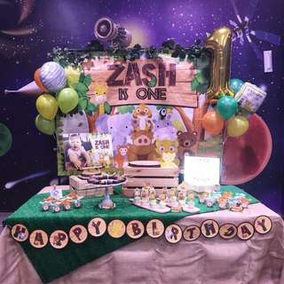 Lion king X Jungle theme dessert table