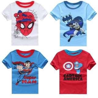 <Instock> 4pcs Superheroes T-shirts