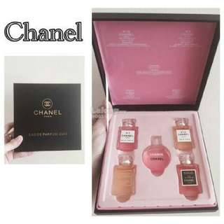 CHANEL PERFUM 5-in-1 PREMIUM GIFT SET MINIATURE CHANCE