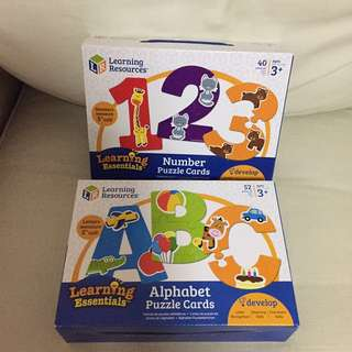 2 For $35 - BN sealed Authentic Learning Resources Alphabet & Numbers puzzle cards.