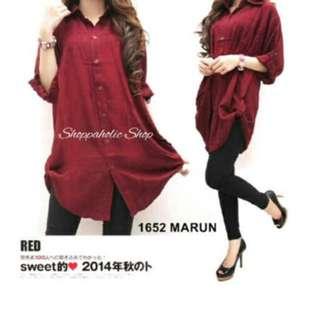 Big Size jumbo Dress XL-xxL maron