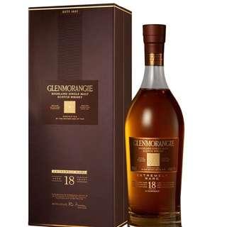 Brand New Glenmorangie 18 yo Extremely Rare Highland Single Malt Scotch Whisky 格蘭傑