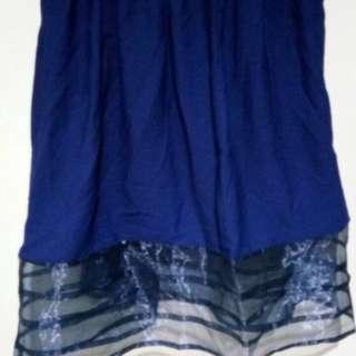 Rok renda biru