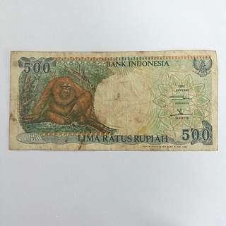 1992 INDONESIA 500 Rupiah Banknote