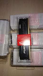 Sealed Brand New Kingston 8GB HyperX FURY 2400MHz DDR4 Non-ECC CL15 DIMM 8 DDR4 2400 MT/s (PC4-19200) Export Set
