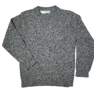 L.L.Bean 80s 古著 毛衣 針織衫 黑 白 灰