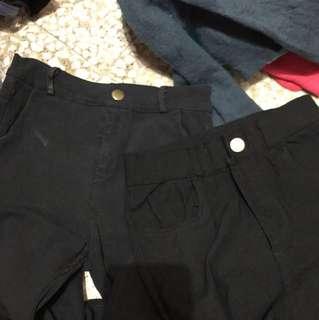 黑色緊身褲 有彈性 10蚊1條 22-30腰
