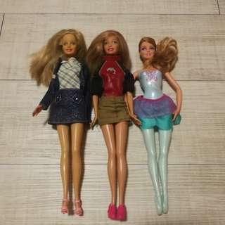 Barbie Dolls (set of 3)