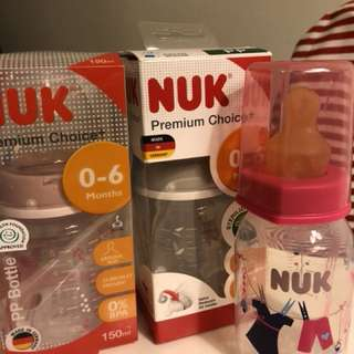 Nuk milk bottles
