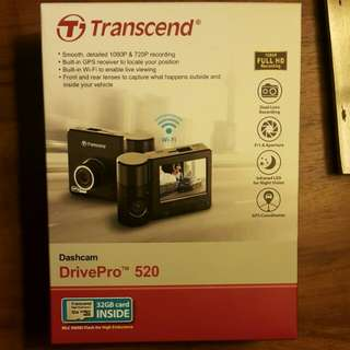 Brandnew Dashcam - Transcend Drivepro 520 with 32GB Memorycard