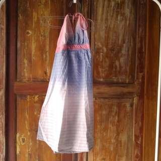 Ombre Dress Halter Neck