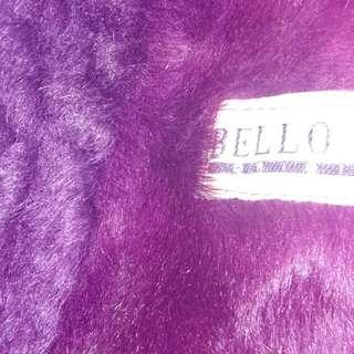 Purple Suede Fur Coat Jacket