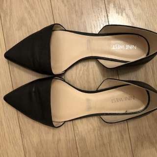 Black Nine West Flats
