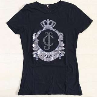Juicy Couture tshirt Black colour size Small