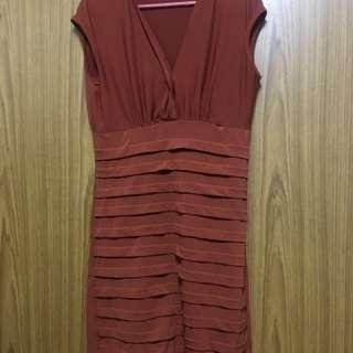 Office Dress - Brown