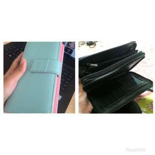 Promo Take All Dompet Blue&Pink dan Black Clutch 50.000
