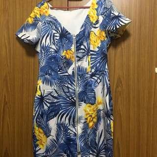 Office Dress- Blue