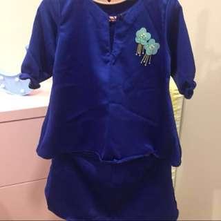 Baju Kurung Baby (Blue)