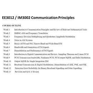 🚚 EE3012 IM3002 Communication Principles Notes