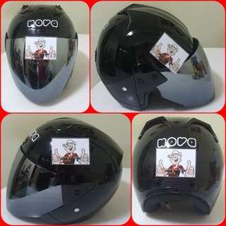 1102*** NOVA Black + Chrome Visor Helmet For Sale 😁😁Thanks To All My Buyer Support 🐇🐇 Yamaha, Honda, Suzuki