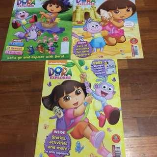 Brand new dora the explora activity books x 3