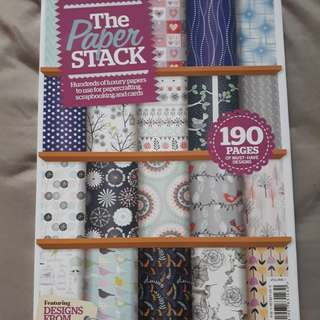 190pgs A4 Double sided designed Scrapbooking Paper