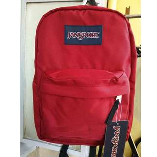 red authentic jansport bag large with free inner laptop sleeve