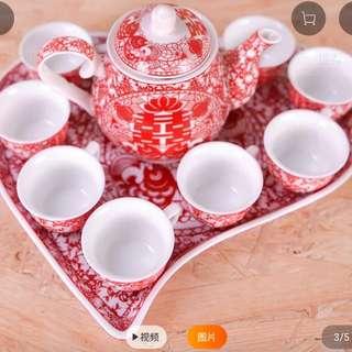敬茶茶具1套8杯
