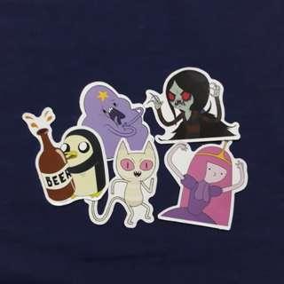SET F - Adventure Time Sticker Set