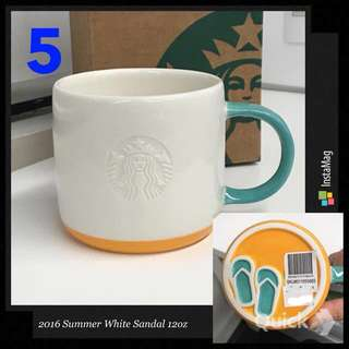 Starbucks Mug - 2016 Summer White Sandal 12oz Mug