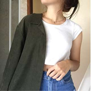 Vintage suede feel blazer / jacket / shirt
