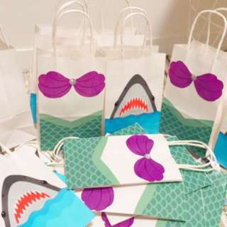 mermaid theme favor bag for kids party