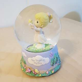 Precious Moments Snow Globe with Music