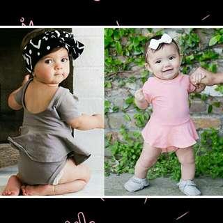 Newborn Baby Girl Short Sleeve Romper 🍀