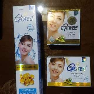 Goree Beauty Cream, Soap & Lotion Set