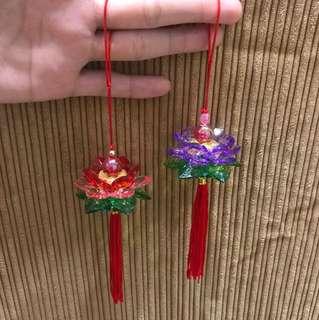 Mini Handmade Crystal Lotus ornament