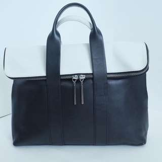 AUTHENTIC 3.1 PHILLIP LIM Leather Black & White 31 Hour Tote Bag