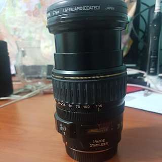 Canon Zoom Lens IS 28mm to 135mm, F3.5 to F5.6 with Hoya cover