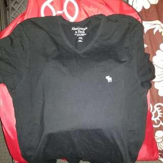 Men's V Neck Black T Shirt