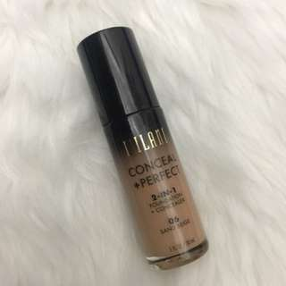 Milani 2 in 1 perfect and conceal foundation