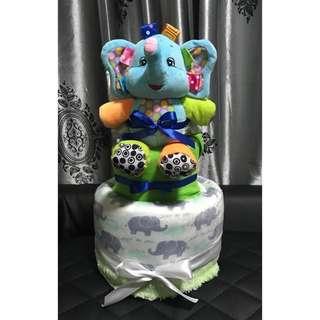 Diaper Cake Hamper (Elephant)