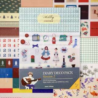 Diary deco pack, version 2, 9sheets