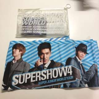 Superjunior supershow4 應援毛巾