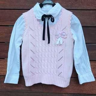 Girls knit singlet vest size 3-4