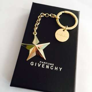 Givenchy gold star key ring